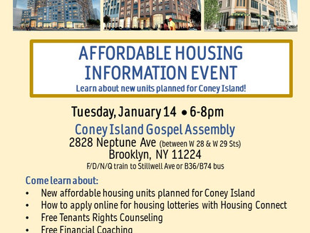 Affordable Housing Info Event (Coney Island)