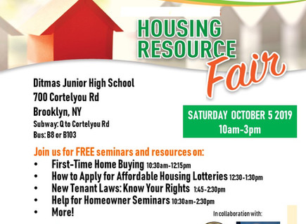 Housing Resource Fair - Sign up for Seminars (Brooklyn)