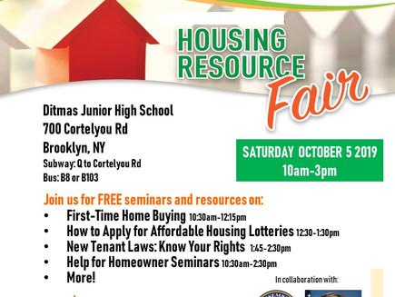 Housing Resource Fair - Sign up for Seminars (Brooklyn)