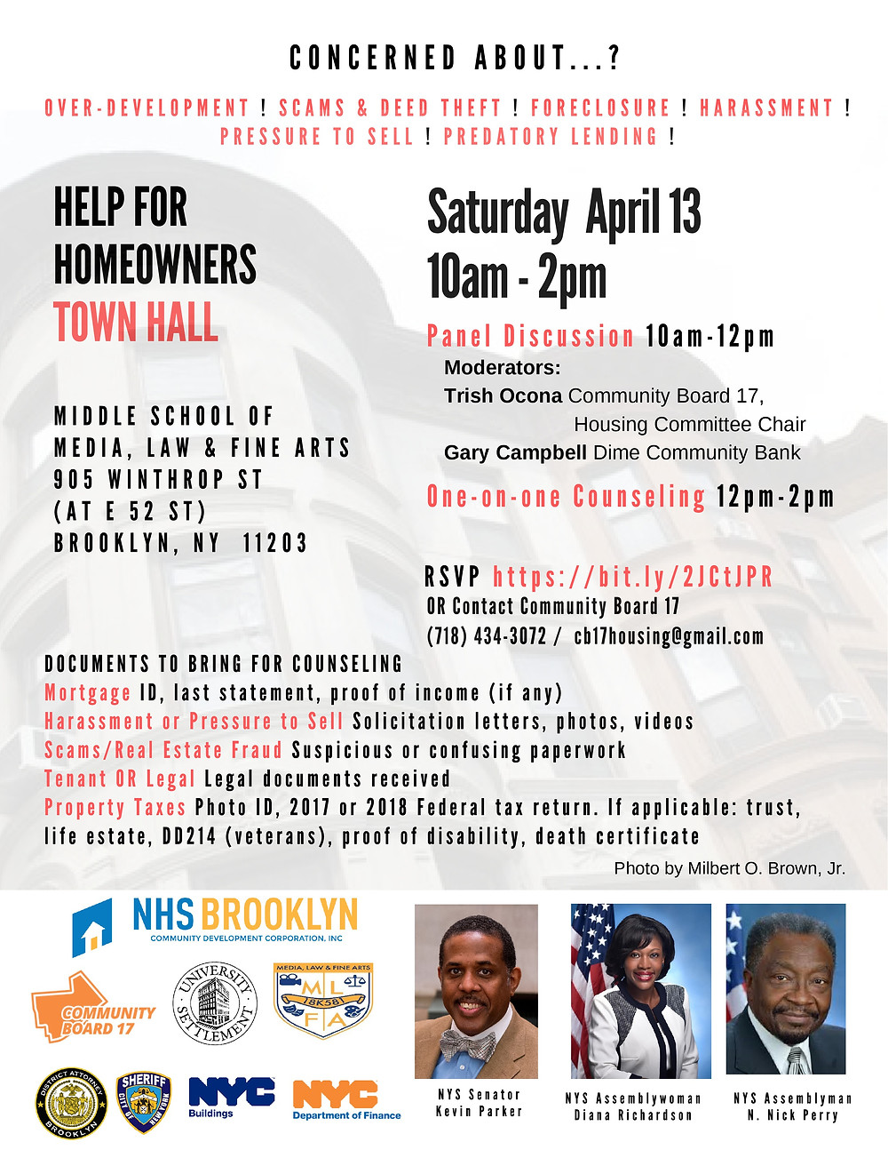 Town Hall NHS Brooklyn Community Board 17 2019