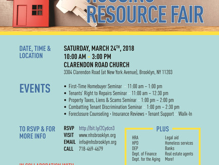 Housing Resource Fair on Saturday!
