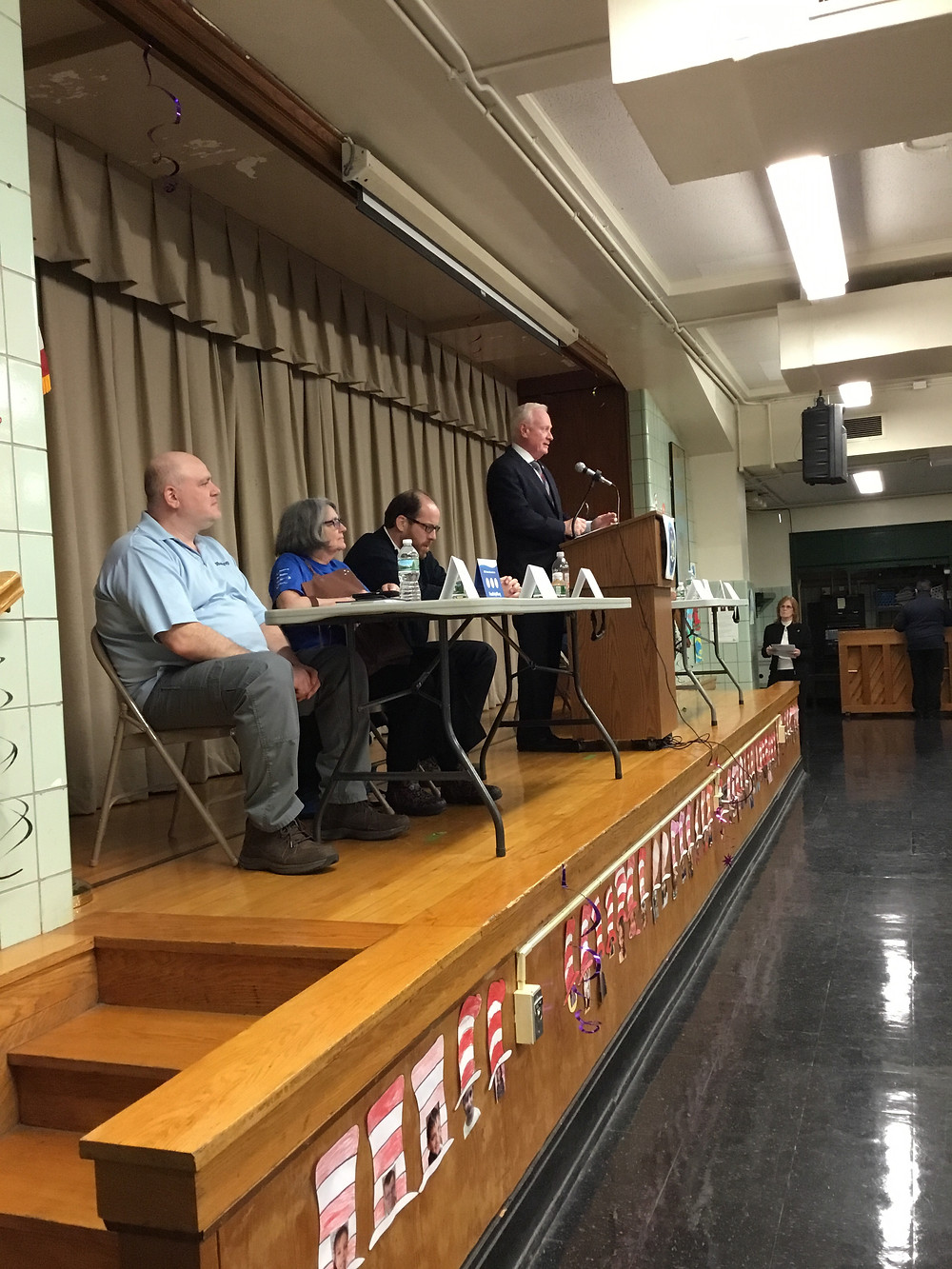 Senator Martin Golden Gerritsen Beach Sandy Town Hall March 2018 with NHS Brooklyn Elizabeth Malone