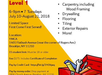Home Maintenance Course Starts July 10