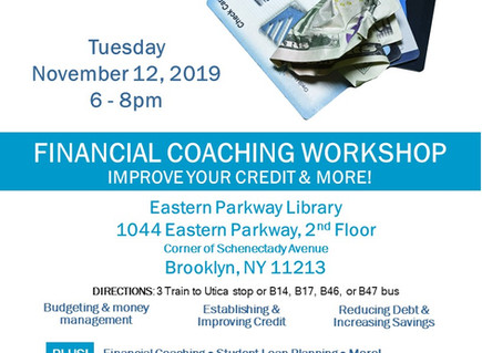 Financial Coaching Workshop (Crown Hts)