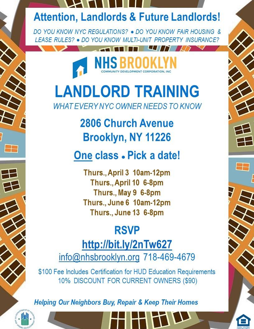 NHS Brooklyn Landlord Training class HUD Church Avenue 2019