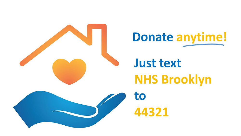 "Text ""NHS Brooklyn"" to 44321 to donate anytime!"