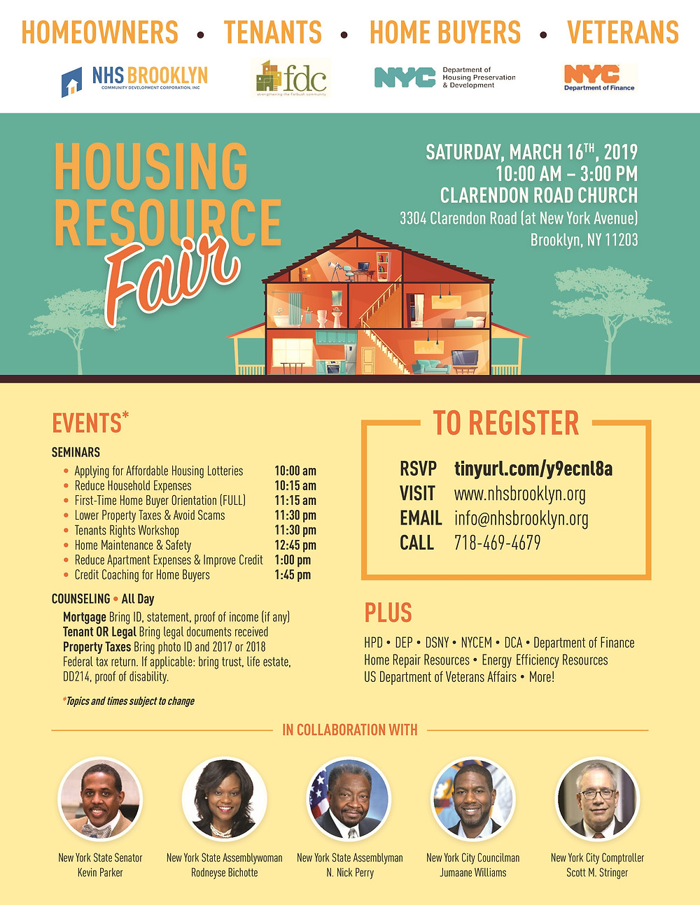 Housing Resource Fair NHS Brooklyn FDC East Flatbush 2019