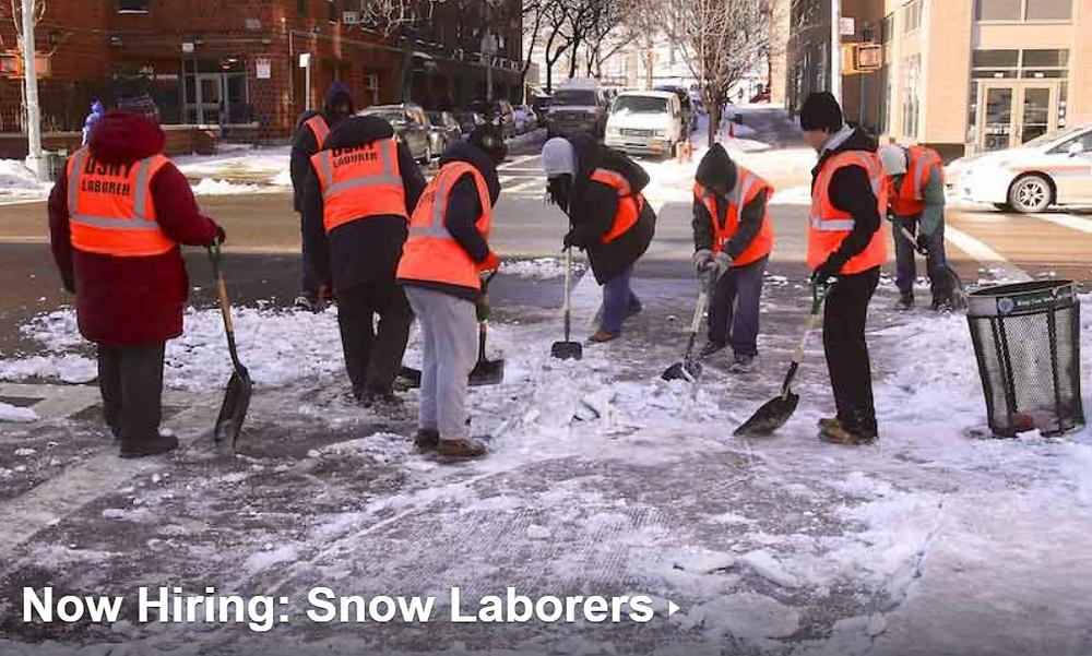 dsny hiring snow laborers nhs brooklyn neighborhood nyc 2019