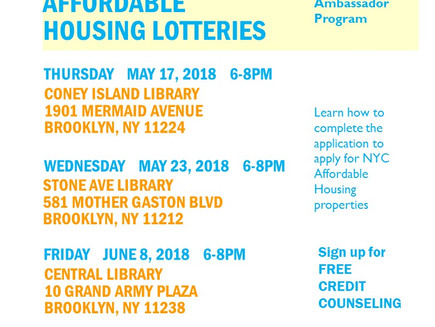 Affordable Housing Lotteries Application Help Events