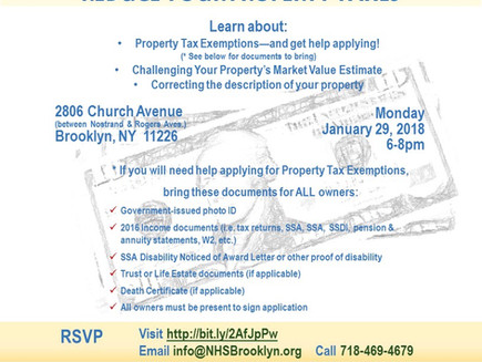 Reducing Property Taxes Event
