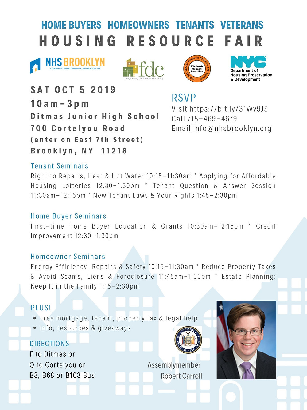housing resource fair nhs brooklyn nyc fdc flatbush tenants robert carroll ditmas junior high kensington 2019