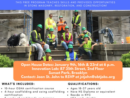 Job Training in Masonry (Sunset Park)