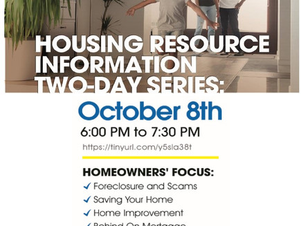 October Help for Homeowner Events!