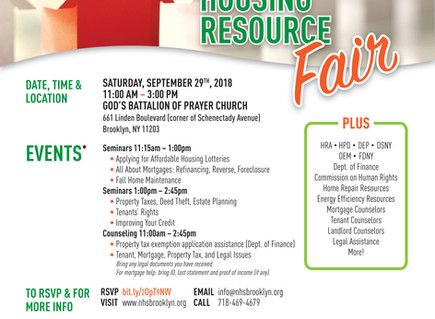 Sat., 9/29 Housing Resource Fair for Homeowners and Tenants