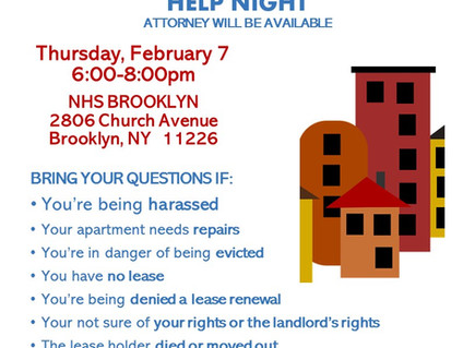 Tenant Issues Help Night