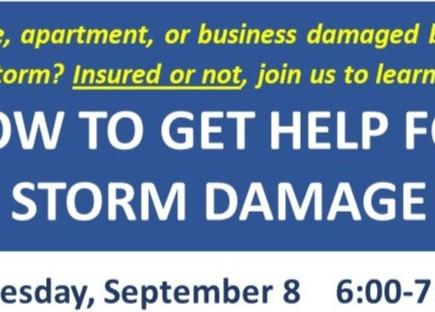Storm damage? Get help