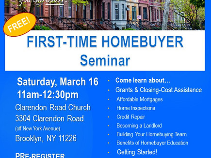 First-Time Home Buyer Seminar (East Flatbush)