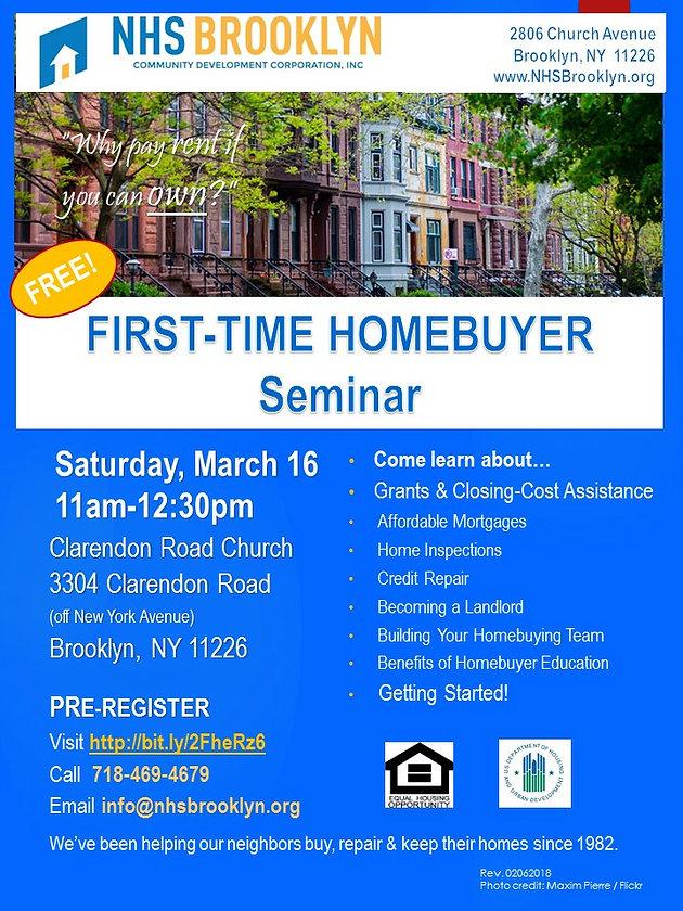 First-Time Home Buyer Seminar (East Flatbush)