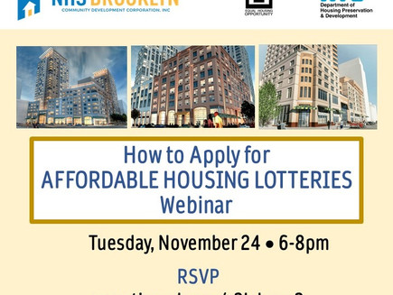 Apply for Affordable Housing Lotteries & More! (Tenants)