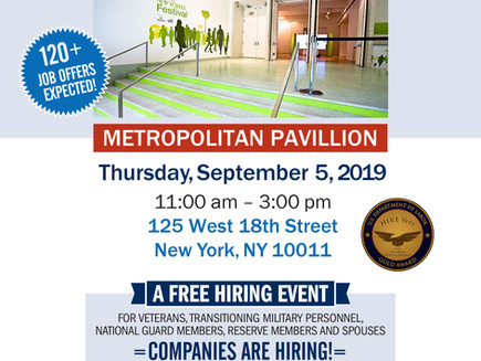 Veterans Job Fair TODAY until 3pm (NYC)
