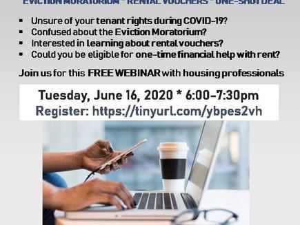 Tenant Town Hall: Eviction Moratorium, Rental Vouchers & Financial Help