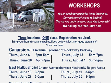 Free Home Insurance Workshops
