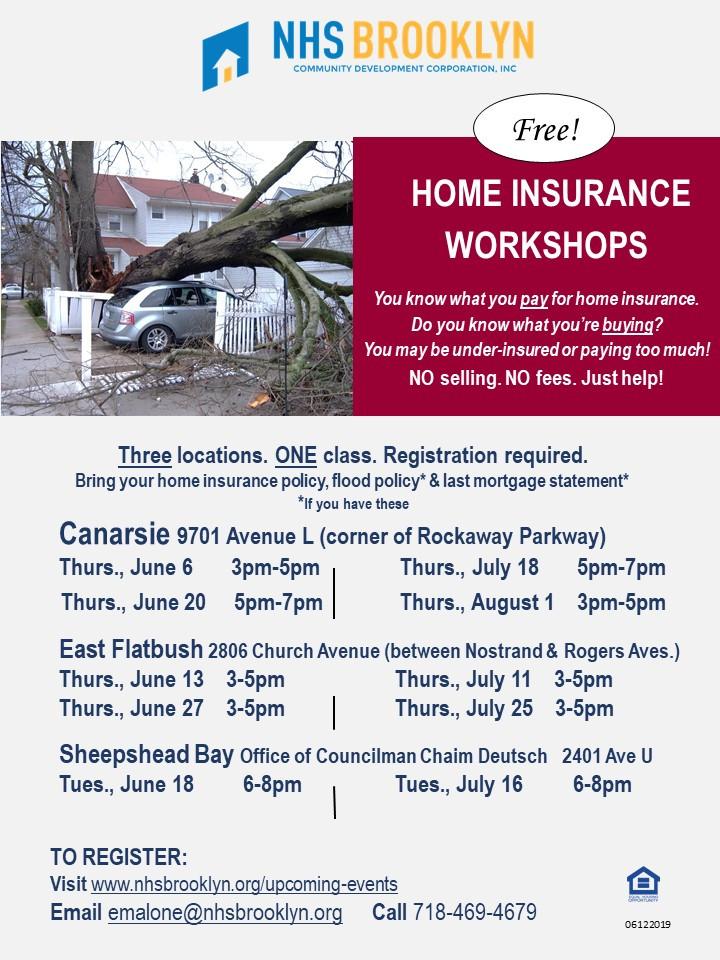 NHS Brooklyn NYC Insurance Counseling Workshop Free 2019 Canarsie East Flatbush Sheepshead Bay Deutsch