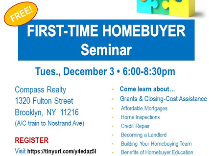 RSVP for our last First-Time Home Buyer Seminar of 2019