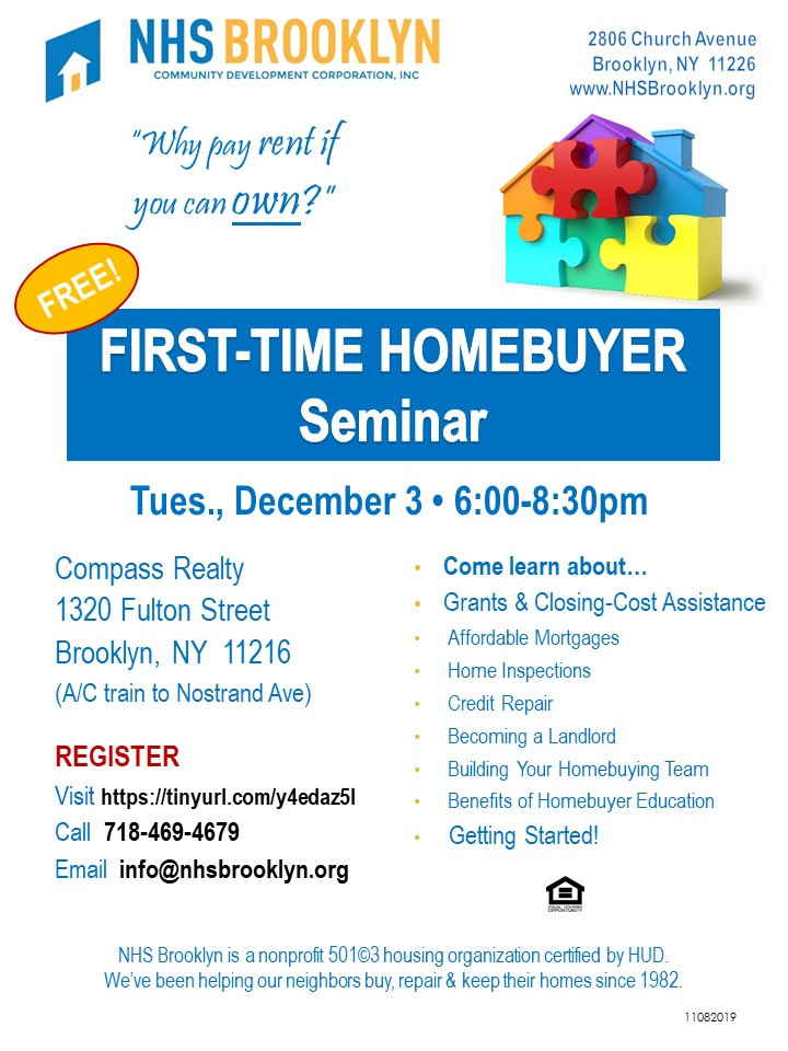 NHS Brooklyn NYC Home Buyer Seminar 2019
