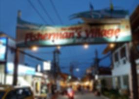 Fisherman village walking street, Baan Saitara Villas luxury accommodation Koh Samui Island