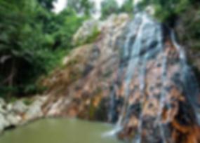 Na Mueang 1 Waterfall, Namuang-Safari-Park-sign, Baan Saitara Villas luxury accommodation Koh Samui Island, best accommodation