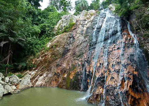 Na Mueang 1 Waterfall, Namuang-Safari-Park-sign, Baan Saitara Villas luxury accommodation Koh Samui Island, best accommodation