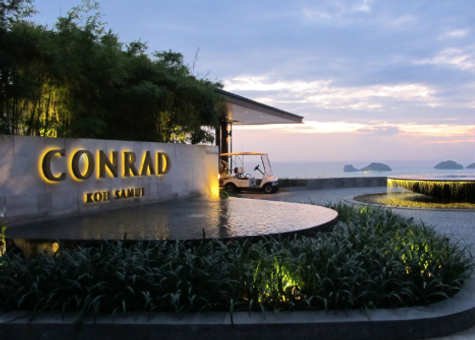 Conrad Samui, Suset of Five Island, Namuang-Safari-Park-sign, Baan Saitara Villas luxury accommodation Koh Samui Island, Thailand