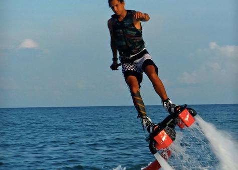 Samui Watersport, jetpack, parasailing, jetski, towable, jetboard, banana boat, Baan Saitara Villas luxury accommodation Koh Samui Island