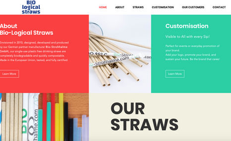 Bio-Logical Straws Originally contacted to do some site tweaks and SE...