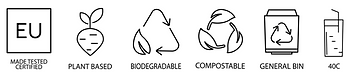 Bio-pot straws, product icons