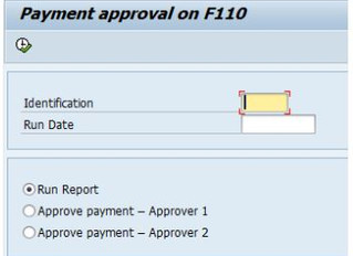 Approving the printing of preprinted signed checks from SAP