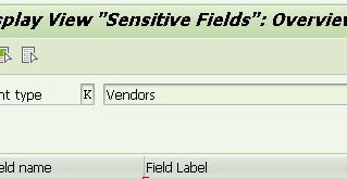 Sensitive Fields for Dual Control in Vendor/Customer Master data