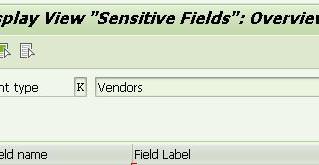 Sensitive Fields for Dual Control in Vendor/Customer Master data