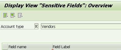 standard SAP sensitive fields customization: