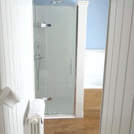 Steps down bathroom