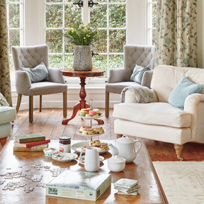 Cream tea in the drawing room