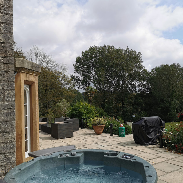 Hot tub hire available on the terrace