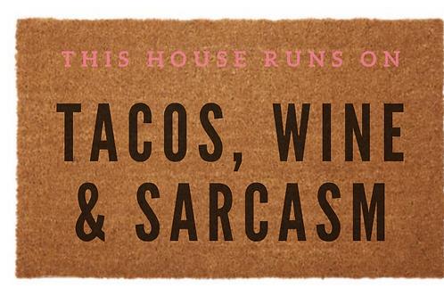 Tacos & Wine Door Mat