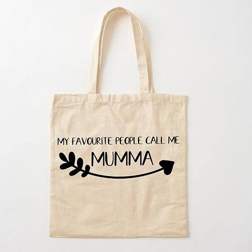 Favourite People call me Mumma Tote Bag