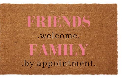 Friends & Family Door Mat