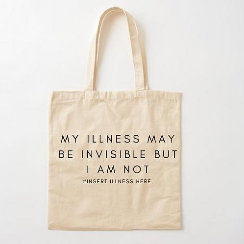 Custom Invisible Illness Tote Bag