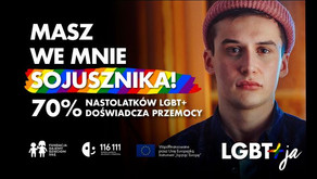 """Kampania """"LGBT+ja"""" Fundacji Dajemy Dzieciom Siłę (dawniej Fundacja Dzieci Niczyje)"""
