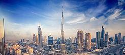 Dubai skyline with beautiful city close to it's busiest highway on traffic_edited.jpg