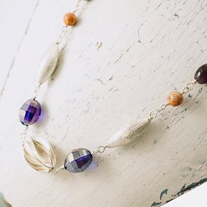 Lavender & Coral Necklace